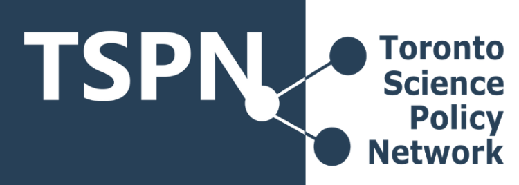 Logo of the Toronto Science Policy Network.